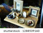 antique objects on the wooden...   Shutterstock . vector #1288539160