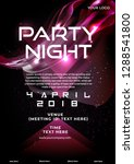 Stock vector party flyer poster futuristic club flyer design template dj advertising digital creative club 1288541800