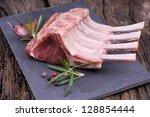 raw lamb chops | Shutterstock . vector #128854444