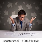 manager in front of the office... | Shutterstock . vector #1288549150