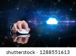 hand using wireless mouse in a... | Shutterstock . vector #1288551613