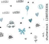 dark blue vector seamless... | Shutterstock .eps vector #1288558306