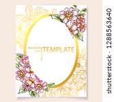 vintage delicate greeting... | Shutterstock .eps vector #1288563640