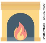 room stove color vector icon... | Shutterstock .eps vector #1288574029