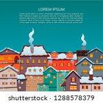 christmas city. cartoon design. ... | Shutterstock .eps vector #1288578379