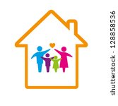 family logo concept. | Shutterstock .eps vector #128858536