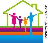 family logo concept. | Shutterstock .eps vector #128858539