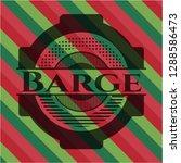 barge christmas style badge.. | Shutterstock .eps vector #1288586473