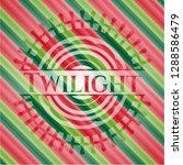 twilight christmas badge. | Shutterstock .eps vector #1288586479