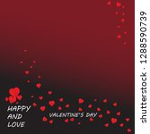 wallpaper vector valentine's day | Shutterstock .eps vector #1288590739