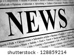 illustrated of a newspaper with ... | Shutterstock . vector #128859214