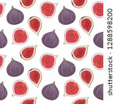 seamless pattern with fresh... | Shutterstock .eps vector #1288598200