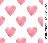 hearts seamless pattern.... | Shutterstock . vector #1288598356