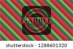 gabble christmas style emblem. | Shutterstock .eps vector #1288601320