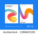 design of brochure smooth soft... | Shutterstock .eps vector #1288602100