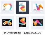 design of brochure smooth soft... | Shutterstock .eps vector #1288602103