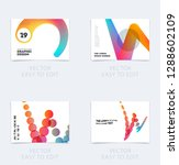 design of brochure smooth soft... | Shutterstock .eps vector #1288602109