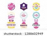 easter retro vintage vector... | Shutterstock .eps vector #1288602949