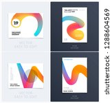design of brochure smooth soft... | Shutterstock .eps vector #1288604569
