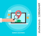 seo location   local maps  ... | Shutterstock .eps vector #1288606489