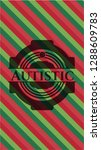 autistic christmas style badge.. | Shutterstock .eps vector #1288609783