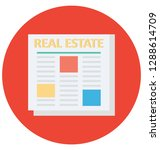 property papers color vector... | Shutterstock .eps vector #1288614709