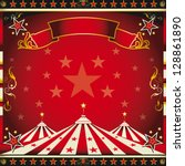 square red vintage circus. a... | Shutterstock .eps vector #128861890