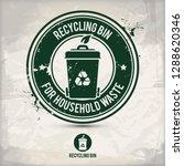 alternative recycling bin stamp ... | Shutterstock .eps vector #1288620346
