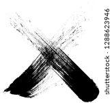 x marks .handwritten letter .... | Shutterstock .eps vector #1288623946