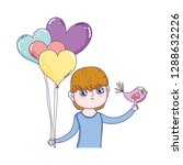 young cute lover boy with... | Shutterstock .eps vector #1288632226
