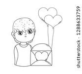 young cute lover boy with... | Shutterstock .eps vector #1288633759