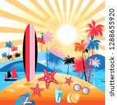 bright summer color landscape... | Shutterstock .eps vector #1288655920