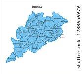 orissa map graphic   vector | Shutterstock .eps vector #1288656979