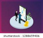 a man people access wireless... | Shutterstock .eps vector #1288659406
