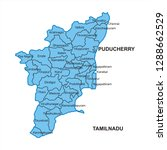 tamilnadu map graphic   vector | Shutterstock .eps vector #1288662529