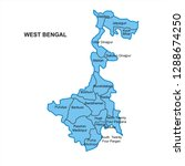 west bengal map graphic   vector | Shutterstock .eps vector #1288674250