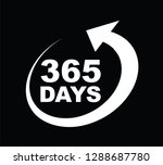 three hundred and sixty five... | Shutterstock .eps vector #1288687780