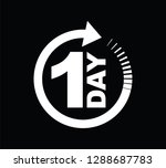 one day icon black   Shutterstock .eps vector #1288687783