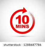 ten minutes icon  | Shutterstock .eps vector #1288687786