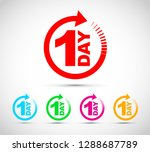 one day icon set | Shutterstock .eps vector #1288687789