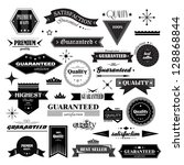 retro design elements. labels... | Shutterstock .eps vector #128868844