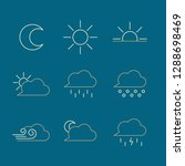 clean  modern weather icons...