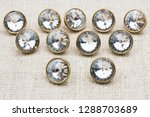 metal sewing buttons with glass ... | Shutterstock . vector #1288703689