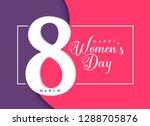 happy women's day march... | Shutterstock .eps vector #1288705876