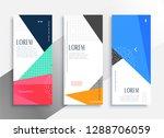 memphis style vertical banners... | Shutterstock .eps vector #1288706059