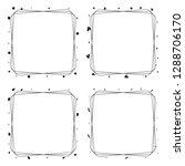set of elegant line frame with... | Shutterstock .eps vector #1288706170
