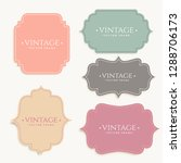 vintage labels frame set design | Shutterstock .eps vector #1288706173