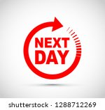 next day icon   Shutterstock .eps vector #1288712269