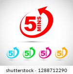 five minutes icon set | Shutterstock .eps vector #1288712290