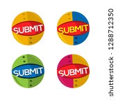 web submit icon. set icon. ... | Shutterstock .eps vector #1288712350